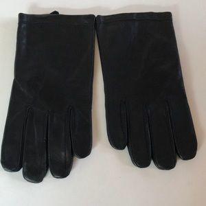 NEW $60 CALVIN KLEIN Black Leather Gloves XL